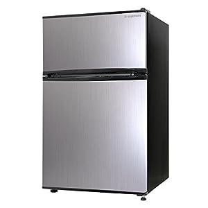 エスキュービズム 2ドア冷蔵庫 WR-2090SL シルバーヘアライン 90L WR-2090SL
