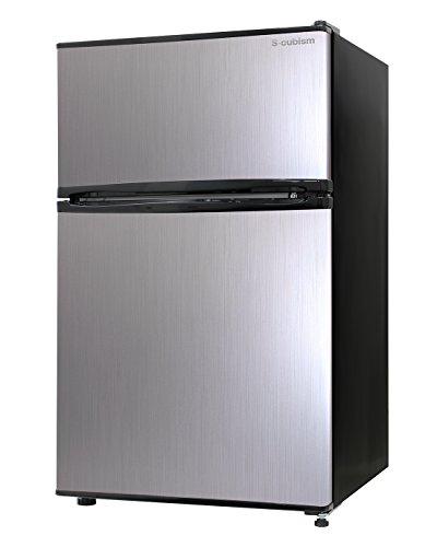 エスキュービズム 2ドア冷蔵庫 WR-2090SL シルバー...