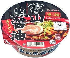 ニュータッチ 凄麺 富山黒醤油ラーメン 1ケース(12食入)