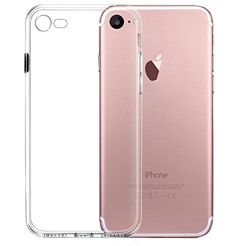 Nowest (ノウェスト)iPhone8 iPhone7 ケース クリアケース 高機能 シリコン 超薄型 0.8mm 超軽量 耐衝撃 防指紋 Nowestオリジナルクリーニングクロス付き (iPhone7, クリアクリスタル)