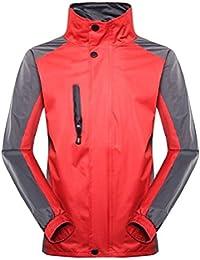 Keaac メンズスタンドネックソフトシェル屋外防水防水ライトジャケット