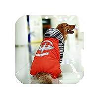 ゴールデン犬の服の冬野球犬のジャケットは大きな犬の服のために暖かいラブラドールペット服、赤い数、32