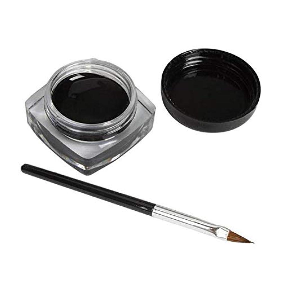 ファシズム検出ネブ3 PCSミニアイライナージェルクリームブラシメイクアップ化粧品ブラックライフ防水E