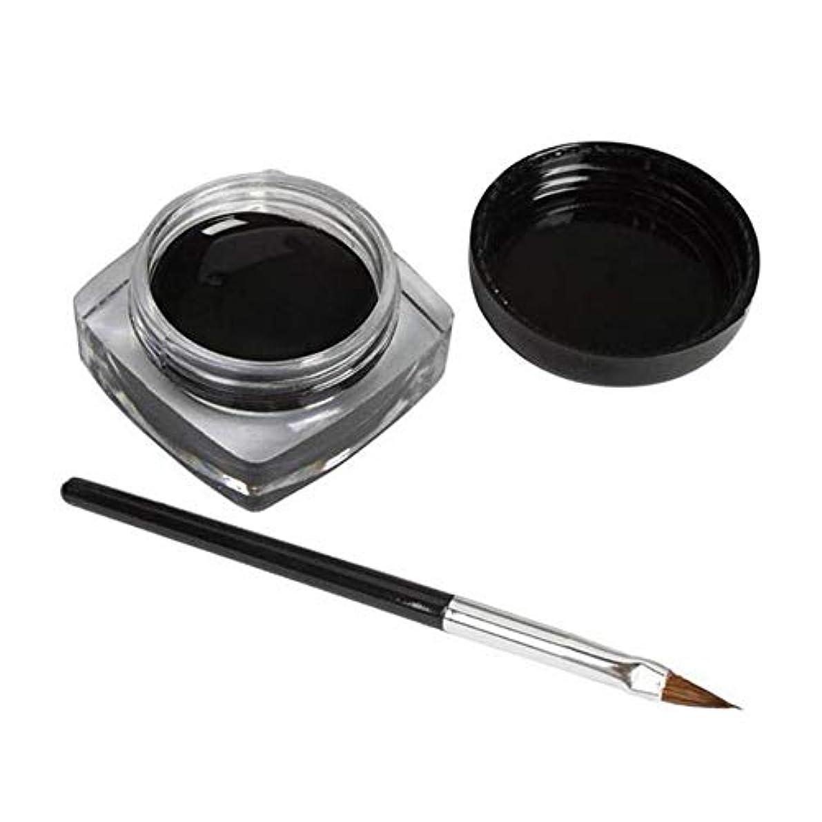 振幅バンドル微弱3 PCSミニアイライナージェルクリームブラシメイクアップ化粧品ブラックライフ防水E
