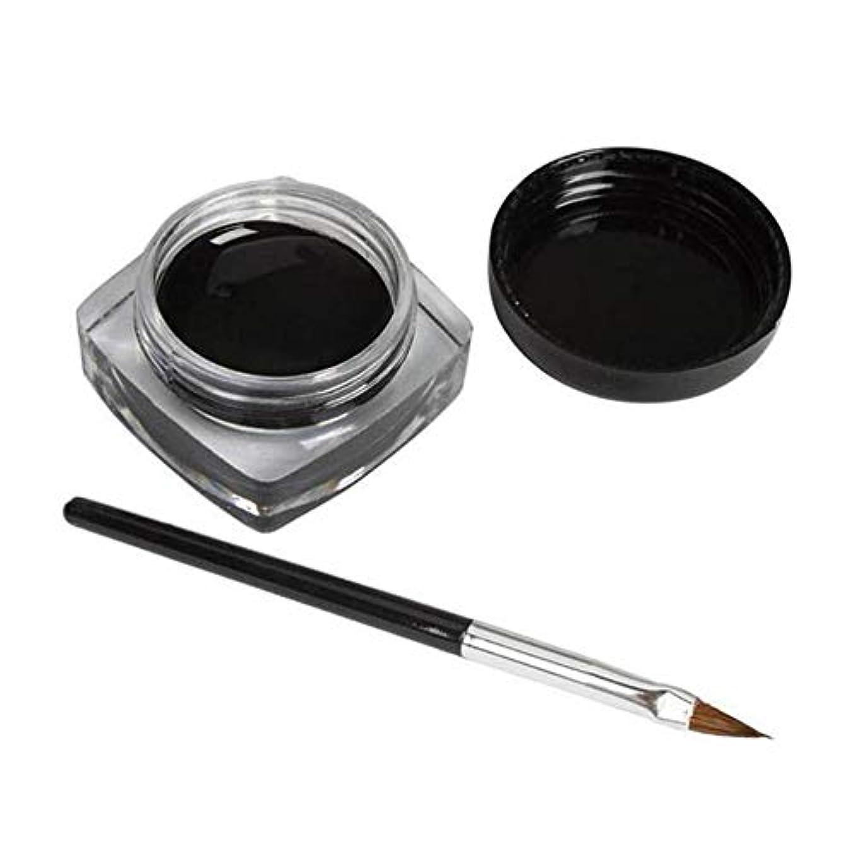 手伝うトレーダー表面3 PCSミニアイライナージェルクリームブラシメイクアップ化粧品ブラックライフ防水E
