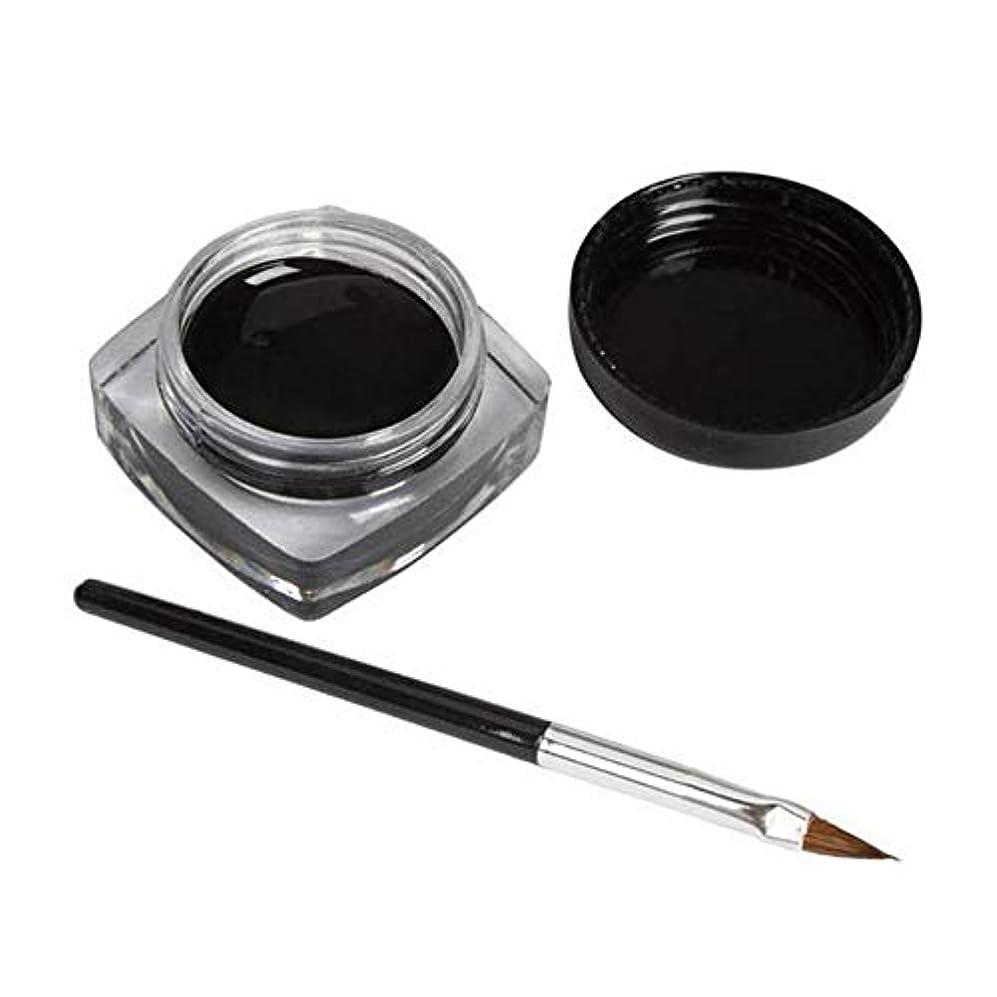 話輝度キャッシュ3 PCSミニアイライナージェルクリームブラシメイクアップ化粧品ブラックライフ防水E