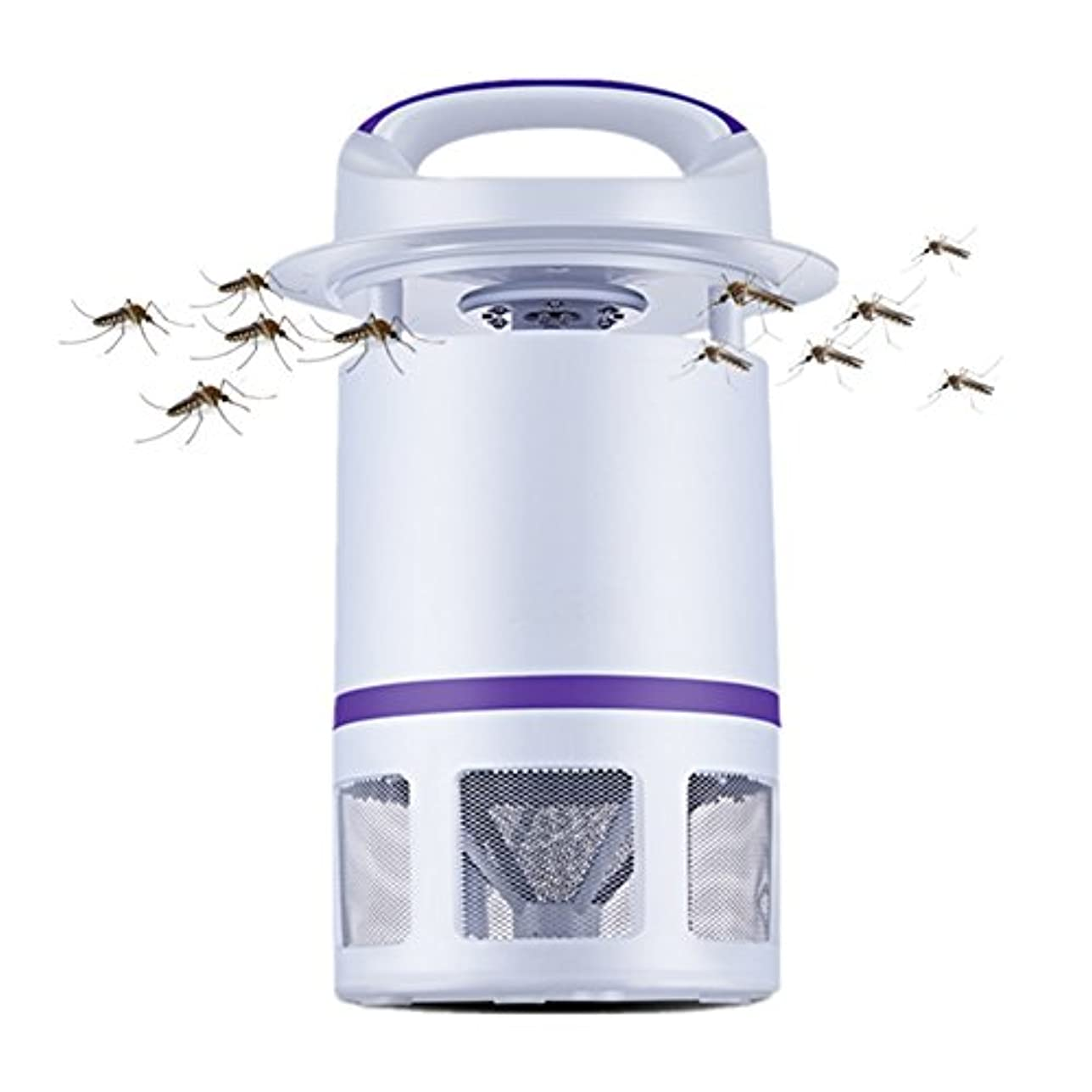 文明ニッケルサイクロプスLIXIONG 蚊ランプ 家庭 LED吸盤タイプ 電気プラグタイプ バイオニック2D 蚊、 白