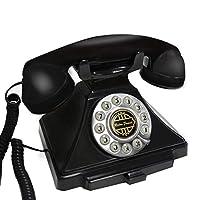 ZYN 家族オフィスのホテルの装飾に使用されるアンティーク電話の固定電話 NYZ (色 : 黒)