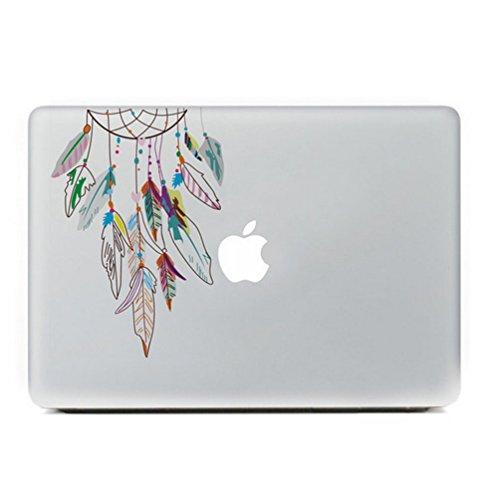 Ac.y.c 取り外し可能な Macbookデカール リンゴの木 Apple Macbook Pro Air Mac 12.9 13 15インチ、ユニボディに適用するアップルマークを生かしたデカール (カラフルな夢のキャッチャー)