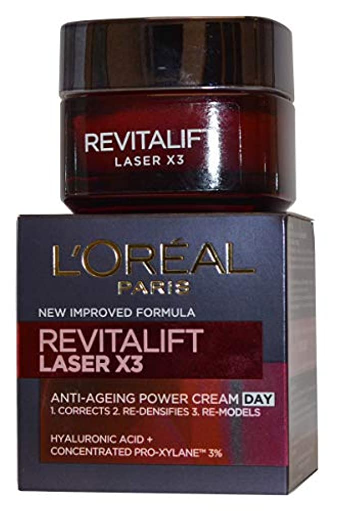 傾斜全体に財団ロレアル Revitalift Laser x3 Anti-Ageing Power Day Cream 50ml/1.7oz並行輸入品