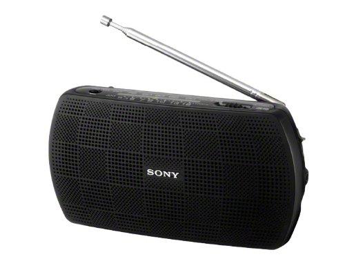 SONY ステレオポータブルラジオ ブラック SRF-18/...