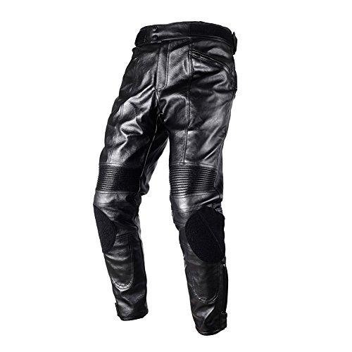 DUHAN バイクパンツ/ズボン レザー ブラック XL ライダースパンツ/ズボン メッシュ レーシングパンツ/ズボン プロテクター装備 通気 耐摩 春 夏 秋