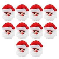 【10個入り】メリークリスマス フェルト バナー クリスマス 壁掛け 飾り フェルト オーナメント サンタクロース