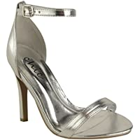 Fashion Thirsty Womens Strappy Stiletto High Heel Sandals Ankle Strap Cuff Peep Toe Shoe