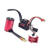 sharprepublic RCカーESC スピードコントローラ 3660 3500KV ブラシレスモーター ヒートシンクカバー
