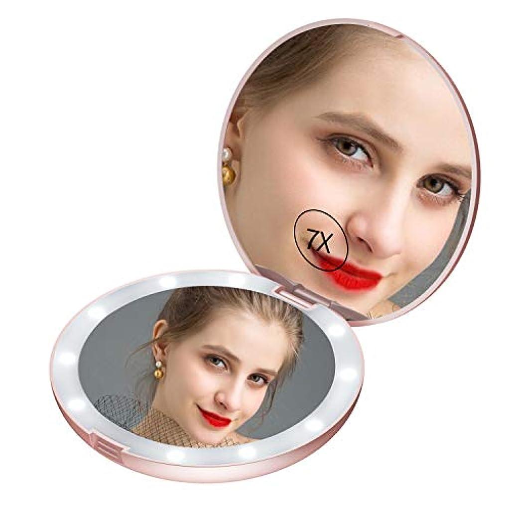 採用基本的な単独でledミラー コンパクト led鏡 手鏡 コンパクト 女優ミラー 携帯 女優ミラー コンパクト 両面コンパクトミラー 化粧鏡 7倍拡大鏡 折りたたみミラー コンパクトミラー Gospire
