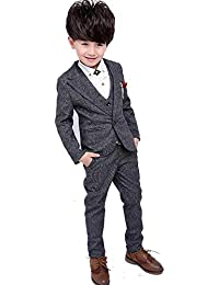 Convoy Leather男の子 スーツ 4点セット子供服 フォーマル キッズ 洋服 入学式 入園式 卒業式 発表会 七五三 コットン