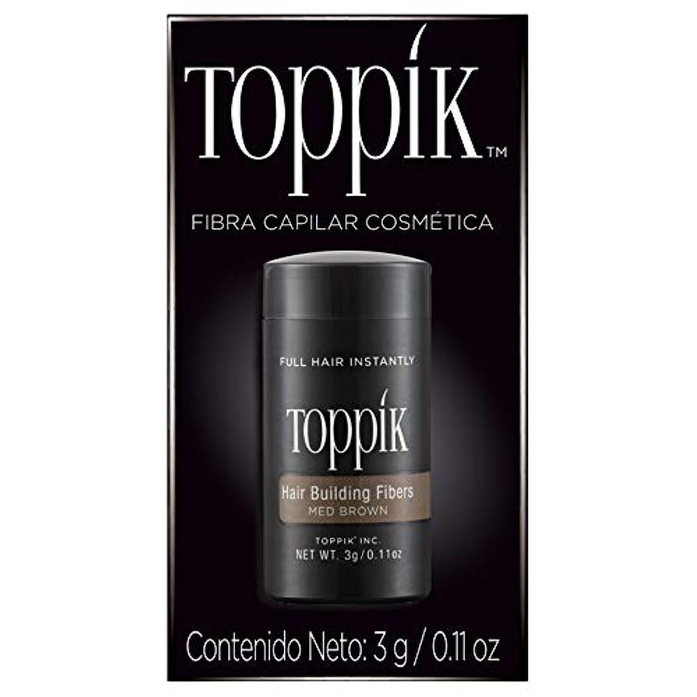トーン広々とした終了しましたTOPPIK 髪のビル繊維、0.11オンス 0.11オンス ミディアムブラウン