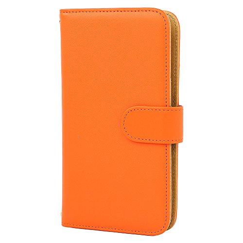 [スマ通] XPERIA X F5121 / F5122 スマホケース スマホカバー 携帯ケース 携帯カバー カバー ケース 手帳型 本革 ダークオレンジ SONY ソニー エクスペリア エックス SIMフリー 海外端末