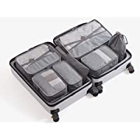 7 Pcs Waterproof Double Layered Packing Cubes Travel Organisers with Safety Buckles by Home of Heya