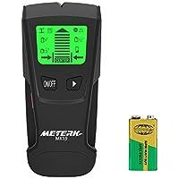 Meterk 下地センサー 下地探し デジタル探知機 高感度センサー スタッド 金属 AC電源 木材 壁裏探知 防災 引っ越し 乾電池式電動工具