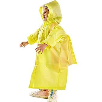 子供 レインコート リュック対応 キッズ 軽量 女の子 EVA 男の子 レインポンチョ 雨合羽 完全防水 通園 通学用 収納袋付き 梅雨対策 100cm-150cm