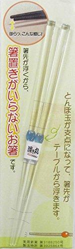 アオバ クリア箸 浮き丸 青 22.5cm (新浮き丸台紙付) AB518433