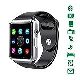 スマートウォッチ smart watch 多機能腕時計 Bluetooth通話機能搭載 健康モニタリング、情報ツイッター、スマート注意、モニタリング、睡眠分析、計略、オーディオ娯楽、社交娯楽、リモコン撮りなど 日本語説明書 (シルバー)