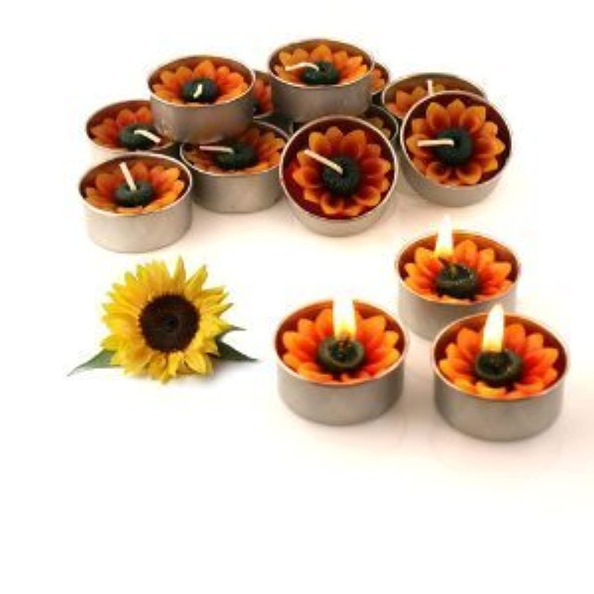 のど食用電卓Relax Spa Shop @ Sun Flower Candle in Tea Lights , Floating Candles, Scented Tea Lights ,Aromatherapy Relax (Sun Flower Candle in Tea Lights Pack of 10 Pcs.) by Relax Spa Shop