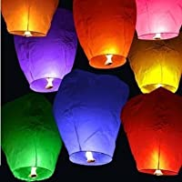 20 PCS Sky Lanterns Paper Lanterns Chinese Wishing Lantern For Birthday Wedding Party by Sky Fly Fire Lanterns
