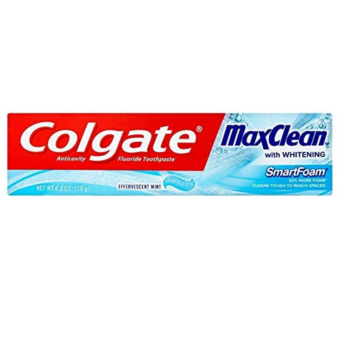 Colgate ホワイトニング歯磨き、発泡ミント6オンスMaxclean SMARTFOAM(3パック) 3パック