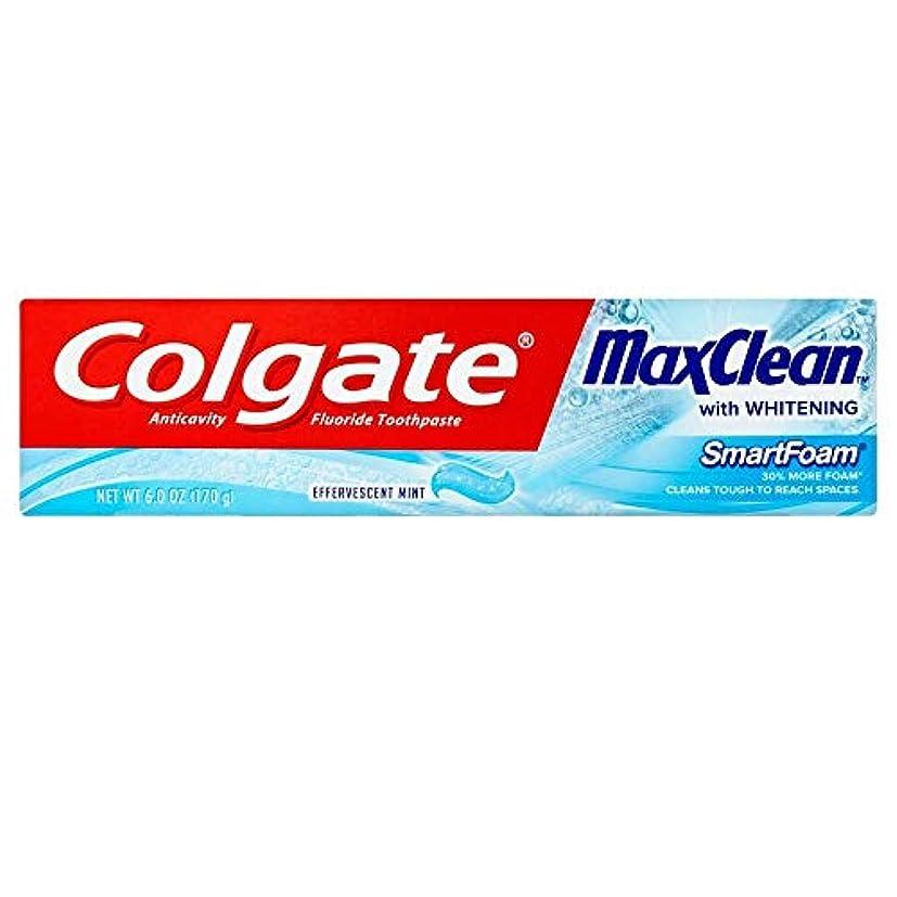 アトラスその間アリーナColgate ホワイトニング歯磨き、発泡ミント6オンスMaxclean SMARTFOAM(3パック) 3パック