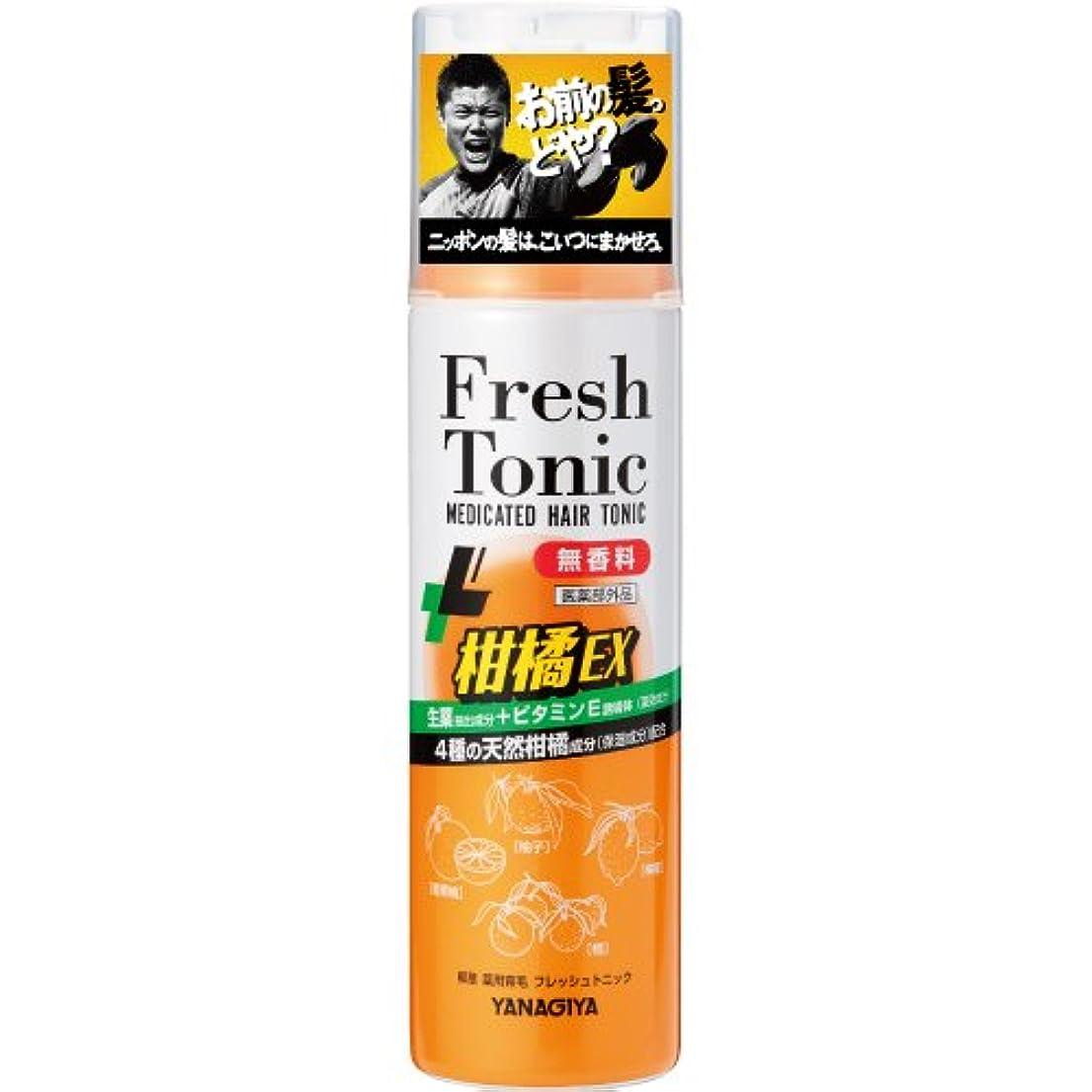 ドロップ切り刻むなぞらえる柳屋 薬用育毛 フレッシュトニック 柑橘EX <無香料> 190g