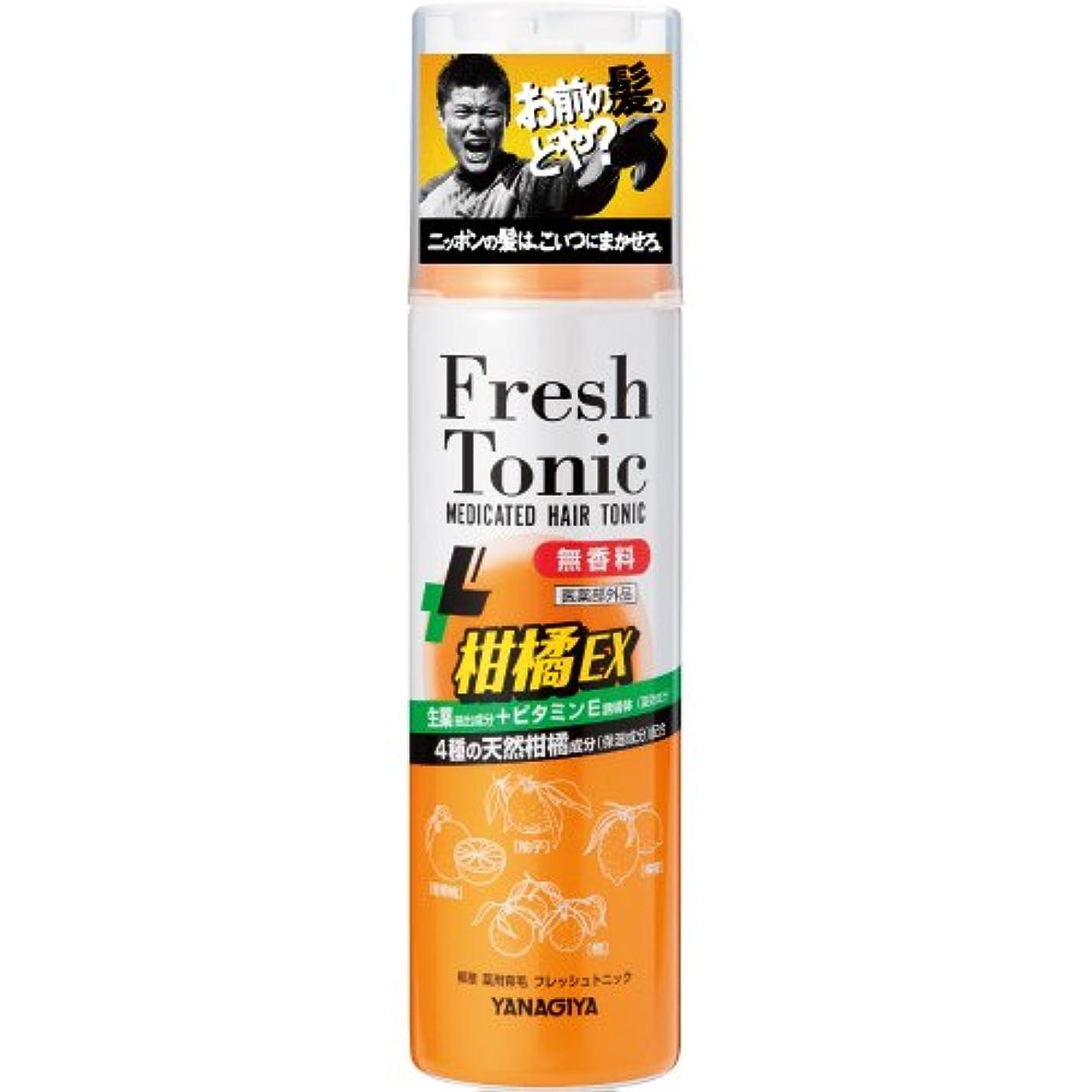 止まる武器着る柳屋 薬用育毛 フレッシュトニック 柑橘EX <無香料> 190g