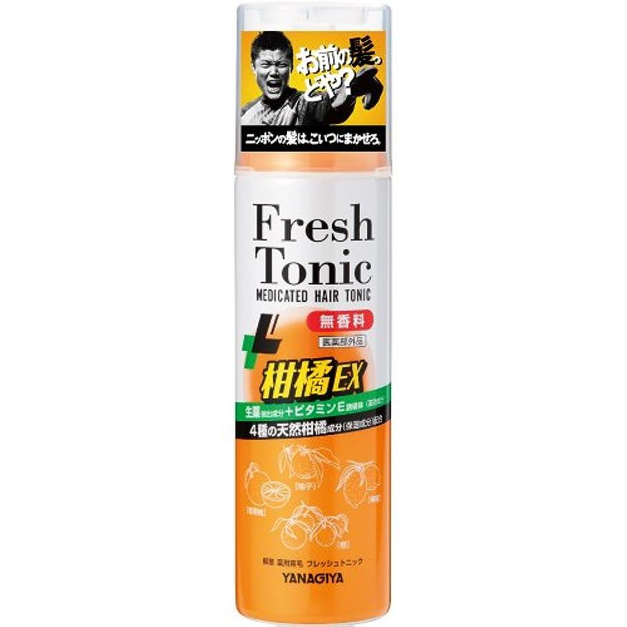 望遠鏡頭痛くしゃくしゃ柳屋 薬用育毛 フレッシュトニック 柑橘EX <無香料> 190g
