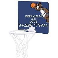 ウルフPlayingバスケットボール – Keep Calm and Love Basketball – Childrens 7.5