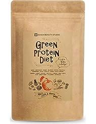 グリーン プロテイン ダイエット シェイク 置き換え スムージー 美容成分配合 無添加 アップル 200g