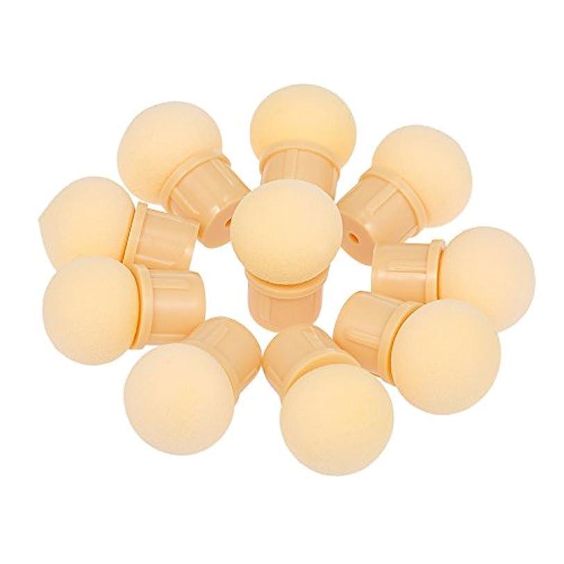 ラフ歯科医心理的にDecdeal 丸いスポンジヘッド 10個 交換可能 マニキュア グラデーションブルーミングブラシ シェードメーカー UVジェルポリッシャー ネイルアートツール