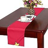 GGSXD テーブルランナー すばしこい 赤い猫 クロス 食卓カバー 麻綿製 欧米 おしゃれ 16 Inch X 72 Inch (40cm X 182cm) キッチン ダイニング ホーム デコレーション モダン リビング 洗える