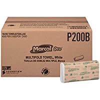 Marcal Pro マルチフォールドタオル - 9.5インチ x 9.25フィート ホワイト 16/250/cs