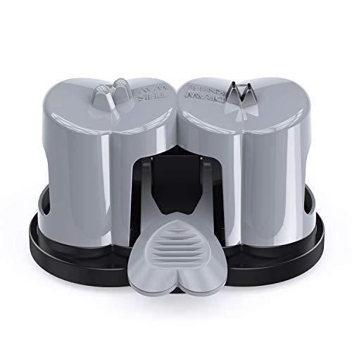 包丁研ぎ器 KFull 二段階灰色シャープナー 真空吸着 片手で研げる研ぎ器 収納ラク 切れ味復活 キッチングッツ