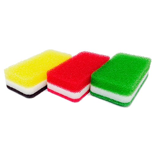 ダスキン台所用スポンジ3色セット抗菌タイプS(3個入)