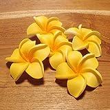 バリ アジアン雑貨 造花 バリウッド:プルメリアの造花かわいいイエローのレギュラーサイズ5個1セット!
