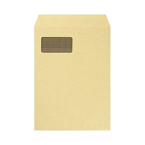 [해외](업무용 2 세트) 창부 크래프트 봉투 A4 안감 문부 85g   m2 1 팩 (100 매) × 2 세트/(2 sets for business) Craft envelope with window A4 lining cloth pattern 85 g   m 2 1 pack (100 sheets) × 2 sets