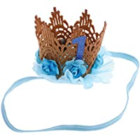Lovoski ヘアバンド 王冠 ラブリー ベイビーガール 柔軟性あり キラキラ フラワーチュール 飾り 全3色