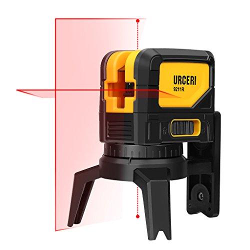 URCERI 墨出し器 9211R 水平・垂直ライン 2ポイント 自動補正 360°回転可 磁石付き三脚 建築 測量 測定など【一年保証】