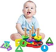 let's make Educational Toys, Montessori Puzzle, Shape-Shaped, Shape-Assorted, Colorful, Beatle, Brain Acti