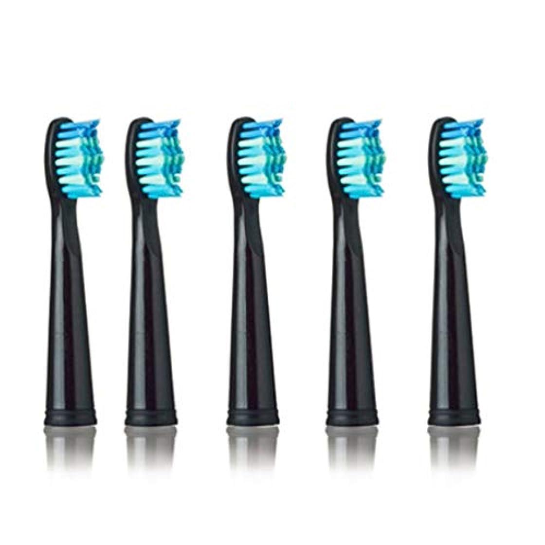 熟す担当者正確なSEAGO 949/507/610/659用電動歯ブラシヘッド抗菌自動歯ブラシヘッド電動歯ブラシ - ブラック