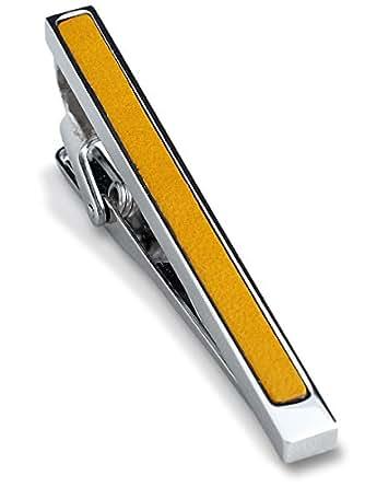 (タバラット) TAVARAT 日本製 ネクタイピン 【本革 真鍮 メンズ】 (イエロー) Tps-003R_yl