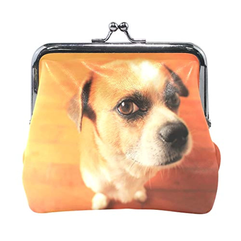 AOMOKI 財布 小銭入れ ガマ口 コインケース レディース メンズ レザー 丸形 おしゃれ プレゼント ギフト オリジナル 小物ケース 犬柄 ワンコ
